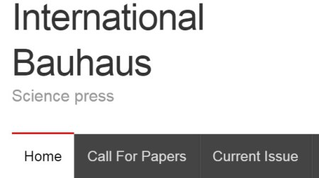 International Bauhaus Science Press